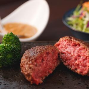 渋谷の焼肉でハンバーグランチ
